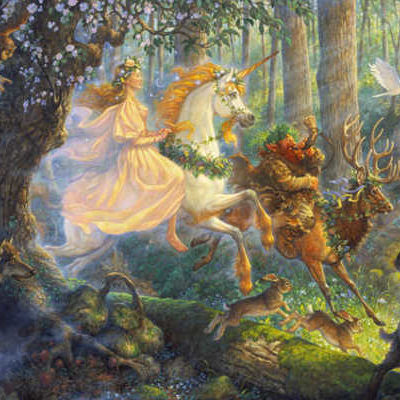 The Maiden And The Unicorn Scott Gustafson