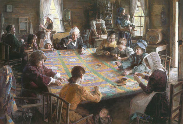 The Quilting Bee, 19th Century Americana Morgan Weistling