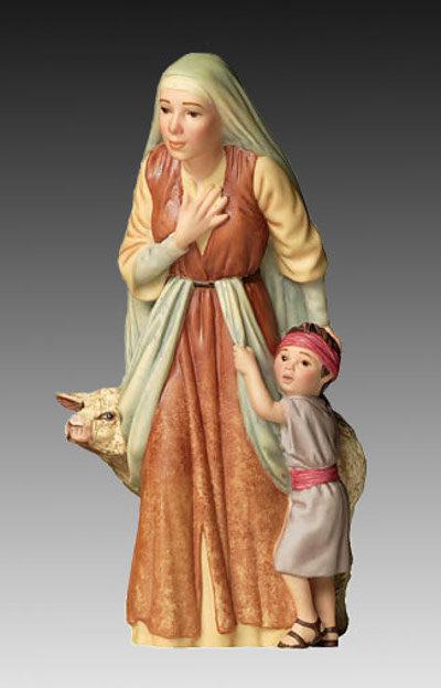 The Shepherds Wife Child Porcelain James Christensen