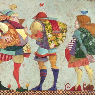 Three Clowns - James Christensen