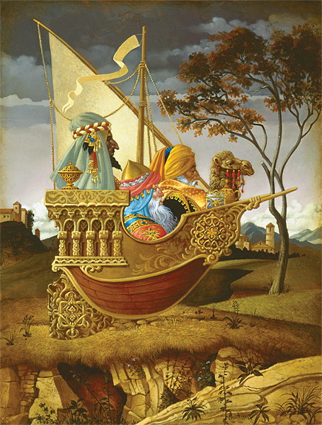 Three Wise Men In A Boat James Christensen