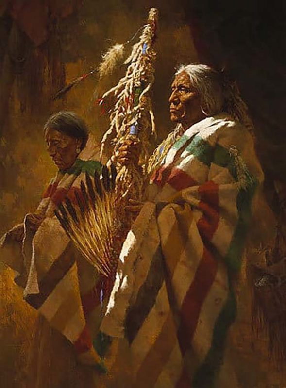 Thunderpipe and the Holy Man - Howard Terpning