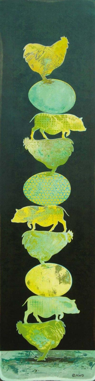 Tiny Totem #1 - Green Eggs & Ham - Andrew Denman