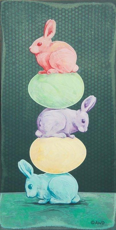 Tiny Totem #3 - Easter Bunnies - Andrew Denman