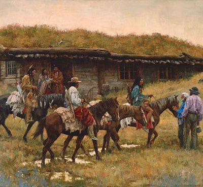 Trading Post at Chadron Creek - Howard Terpning
