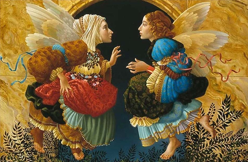 Two Angels Discussing Botticelli - James Christensen