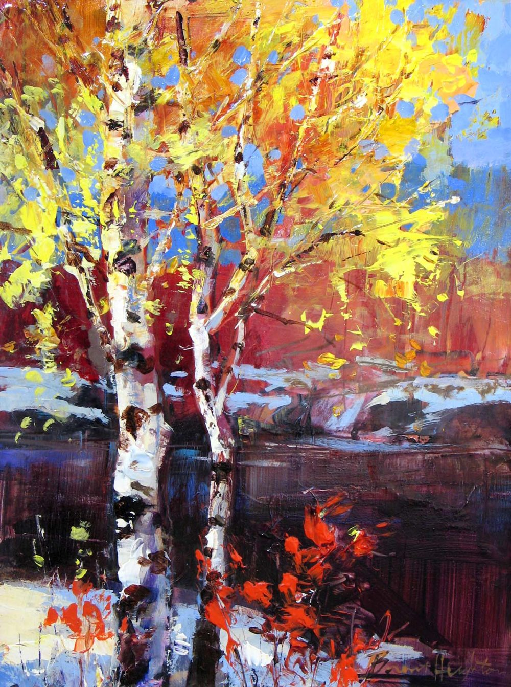 Two Birches - Brent Heighton