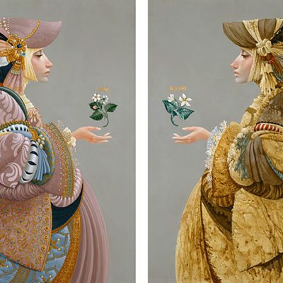 Two Sisters Diptych James Christensen