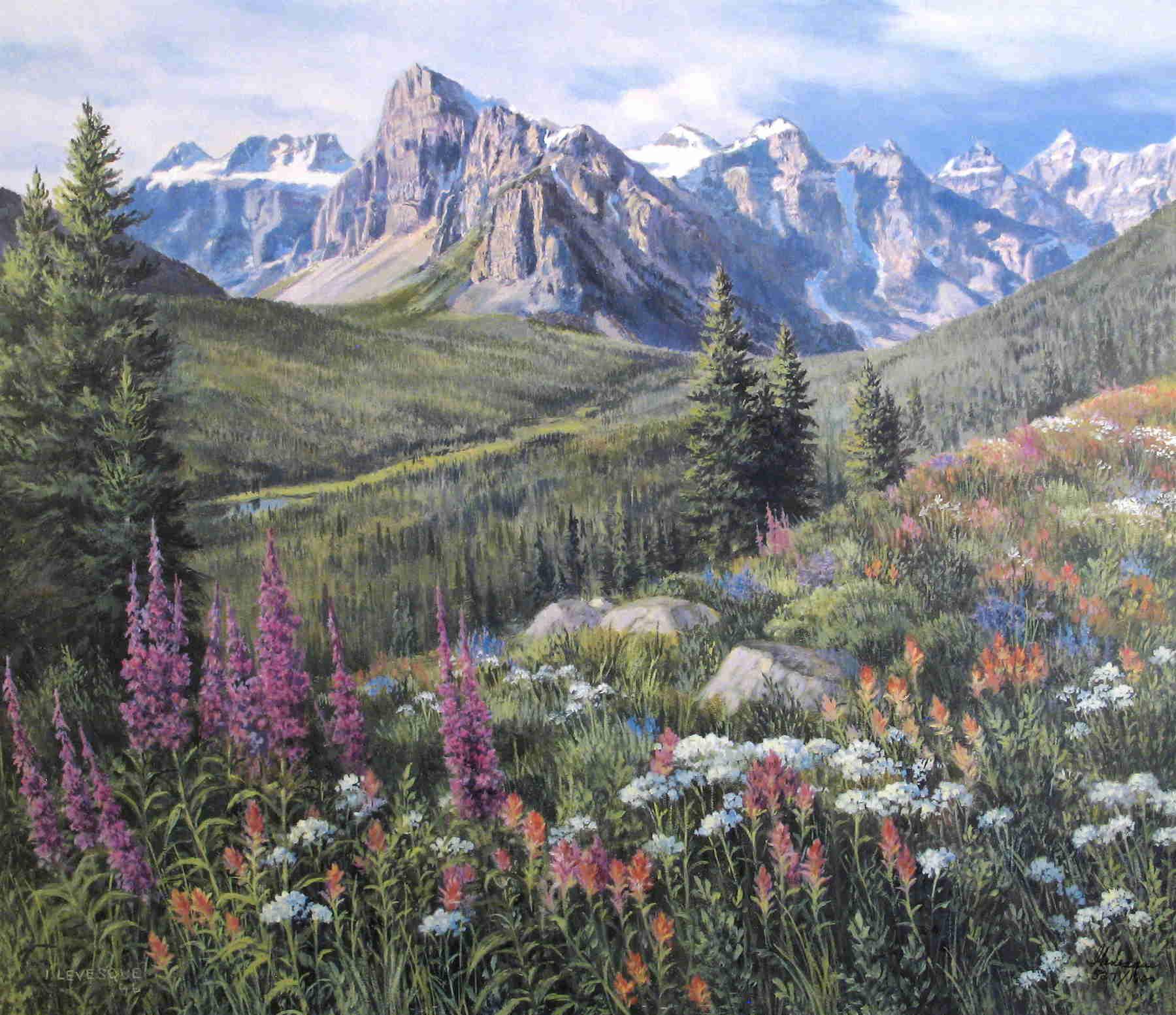 Valley Of The Ten Peaks Isabel Levesque