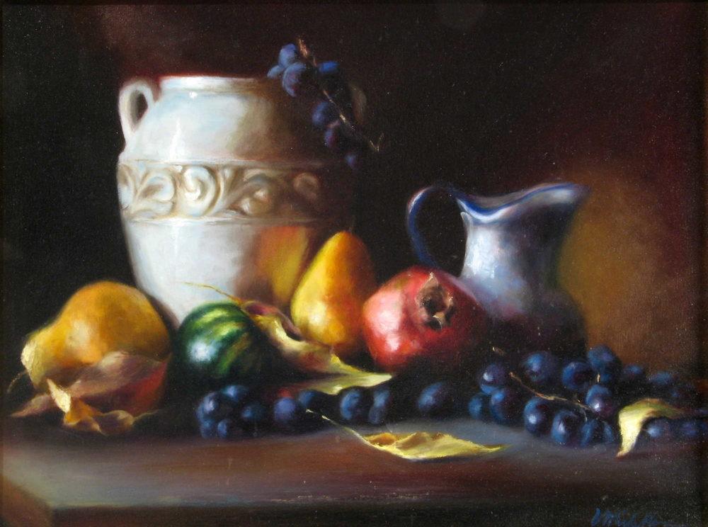 Vase With Autumn Fruit Michelle Murray