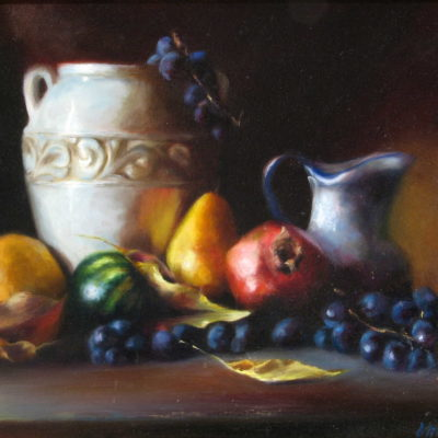 Vase With Autumn Fruit Michelle Murray