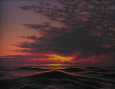 Waves and Sunset - Robert Ross