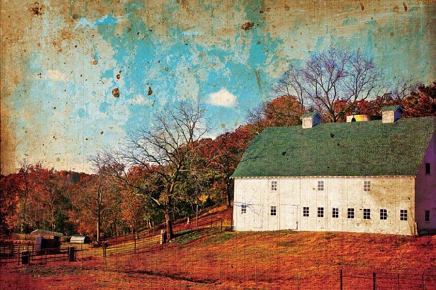 White Barn in the Ozarks - Mark A. Cole