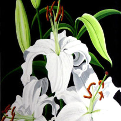 White Lilies Dennis Magnusson