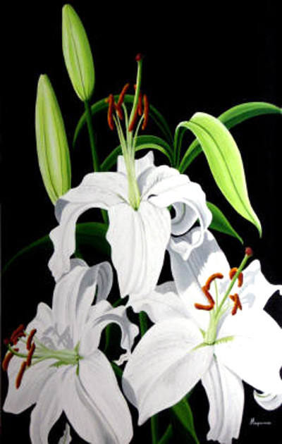 White Lilies Dennis Magnusson