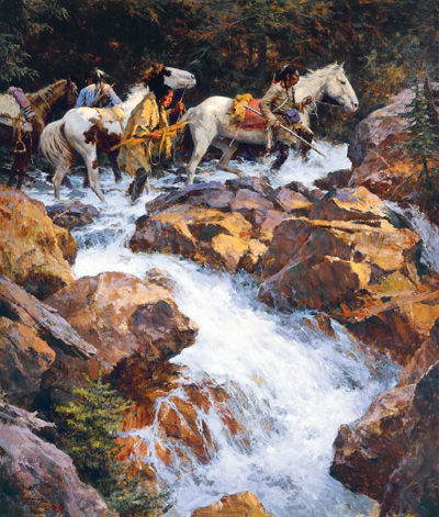 White Water Passage Howard Terpning.