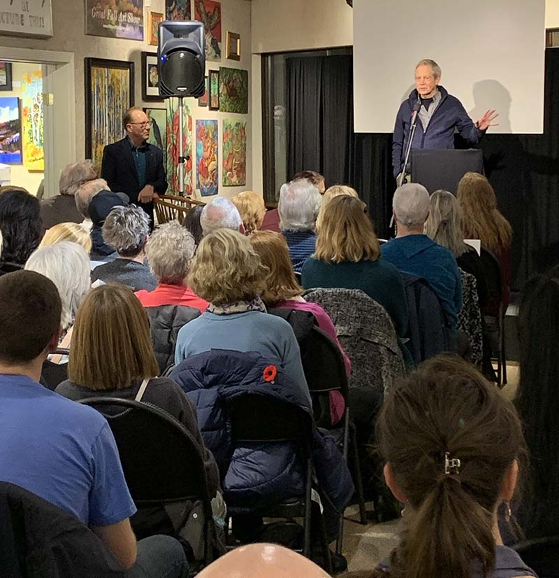 Wild North Donation from Picture This - Robert Bateman Event 2019 - Robert Bateman Talking