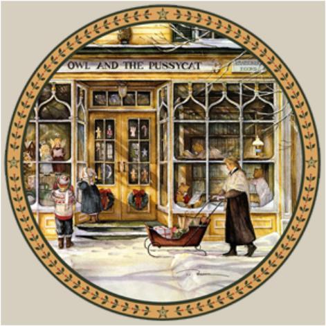 Window Shopper Collector Plate Trisha Romance