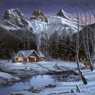 Winter Solitude - Art by Fred Buchwitz