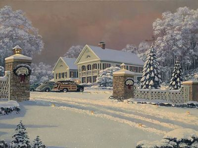 Winter Visitors At Kringle Hill Inn William S. Phillips