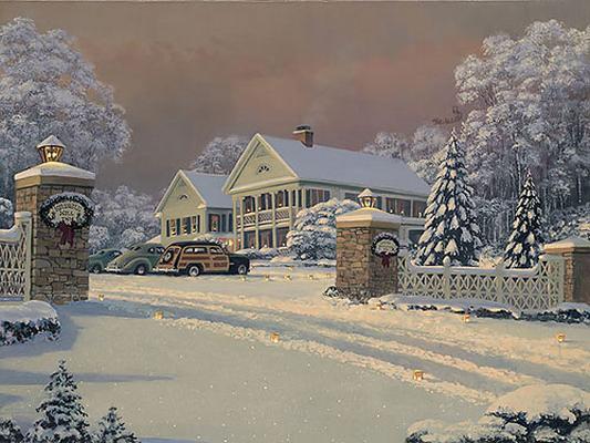 Winter Visitors At Kringle Hill Inn William S. Phillips