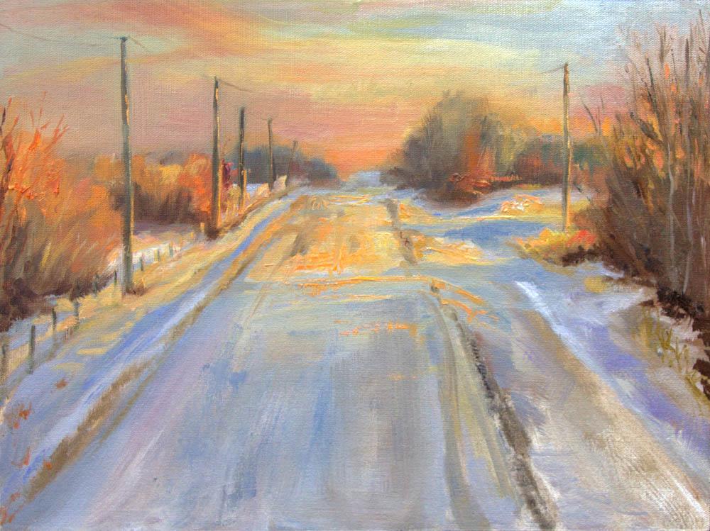 Winters' Orange Glow - Michelle Murray