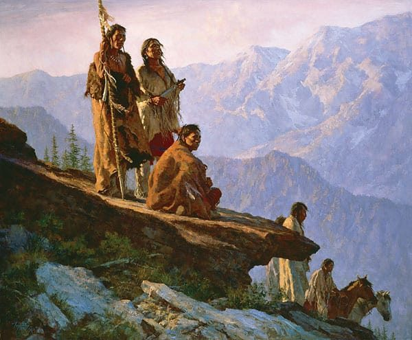 With Mother Earth - Howard Terpning
