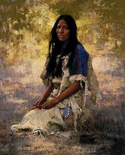 Woman of the Sioux - Howard Terpning