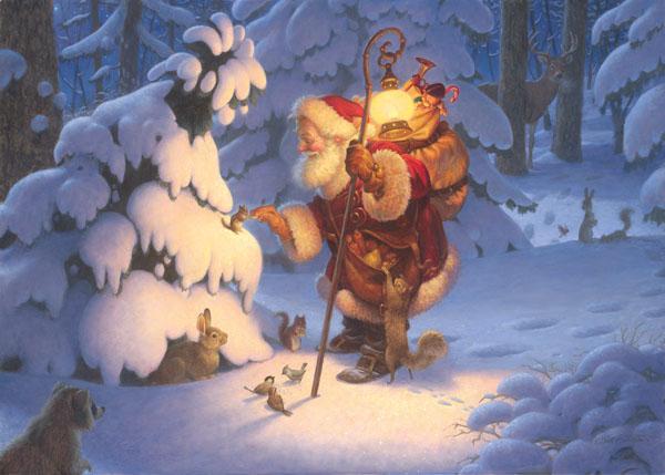 Woodland Santa Scott Gustafson
