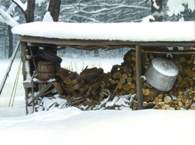 Woodshed In Winter Robert Bateman