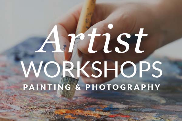 Artist Workshops - Painting, Photography & Sculpture