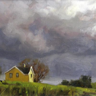 Yellow House and Stormy Skies - Gaye Adams