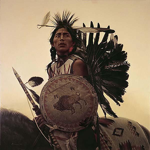 Young Plains Indian - James Bama