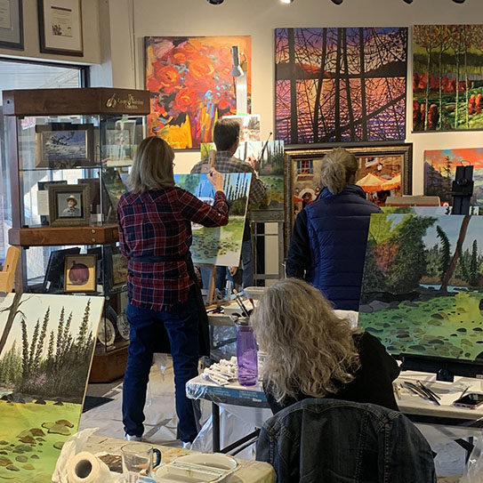 Painting Workshop at Picture This Gallery